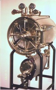 early steam autoclave with controls