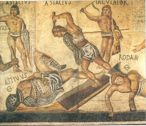 Roman Centurions mit Wissen des Kochens als keimtötende Mittel behandelt