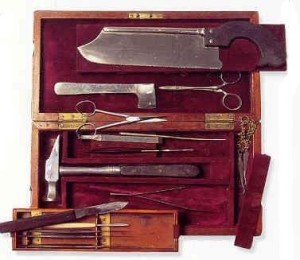 outmoded surgical equipment