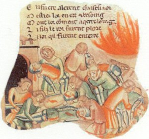 Purification by fire during the plague