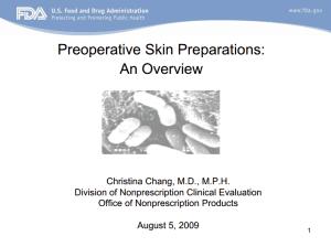 Preoperative Skin Prep slide 1