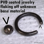 PVD coated jewelry