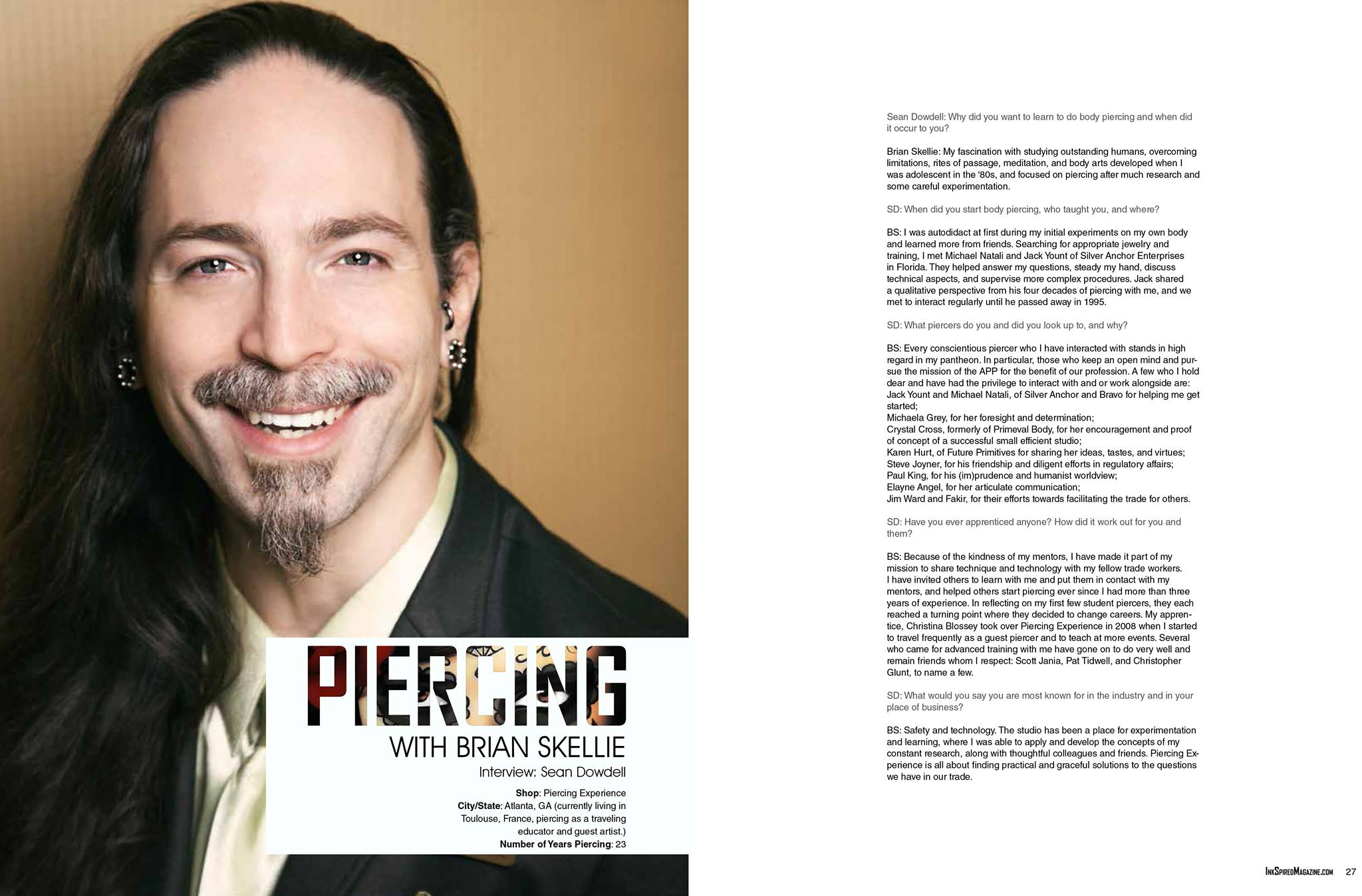 Interview by Sean Dowdell for InkSpired magazine